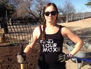 Laura Hood, senior account manager at digital advertising firm Q1Media, helped her peers improve Butler Trail at Lady Bird Lake. Hood is a regular trail user, training for her next triathalon in New Orleans.