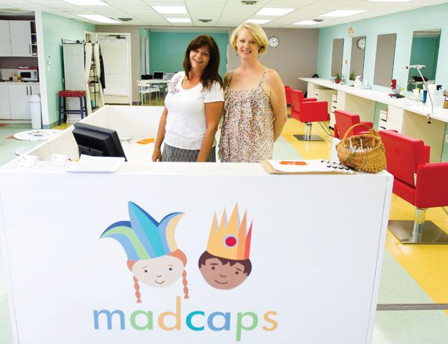 Karen Greenberg, left, and Jessica Knight plan to expand MadCaps Salon LLC, a lice removal business, in scope and number of sites.