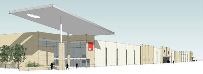 A rendering of the first building planned at 130 Commerce Center in Pflugerville.