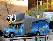 Social media company HootSuite kept things mobile during SXSW with this rolling display.