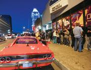 """The National Geographic Channel not only took over the popular nightclub Antone's to woo SXSW fans and clients, it also treated Austin streets to iconic cars from the 1980s such as the General Lee (pictured) and a DeLorean similar to Doc's in """"Back To The Future."""" Nat Geo has an upcoming miniseries called """"The '80s: The Decade That Made Us."""""""