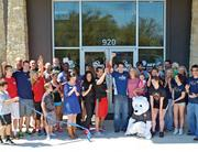 Supporters of the SoccerZone helped managers cut the ribbon on a new facility in Cedar Park on Old Mill Road.