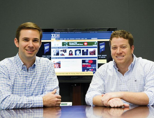 Madison Wickham, left, and Ryan Young are behind TotalFratMove.com.