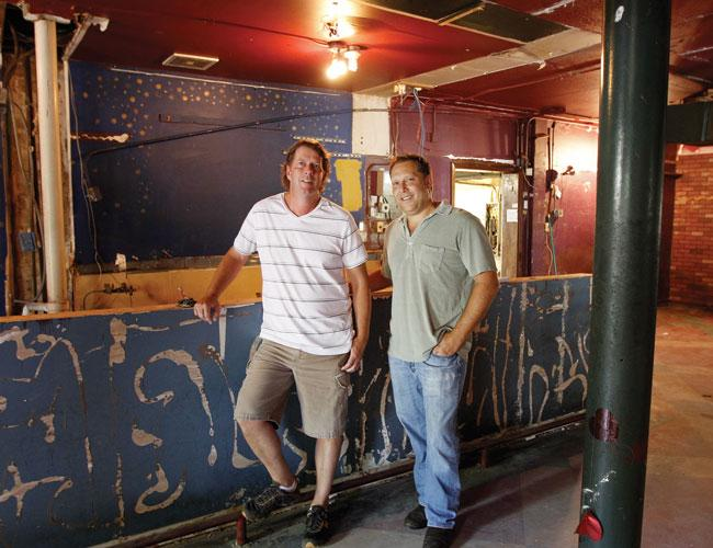 Mark Turner, left, and Rick Engel are turning this space, formerly Romeo's Italian Grill & Bar, into a new restaurant they're calling Umami Mia Pizzeria.