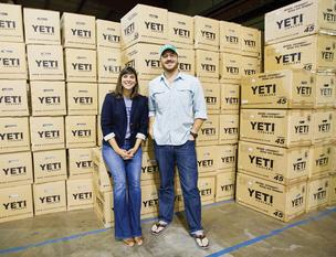 Denise Smith and Rick Wittenbraker make sure Yeti is represented well online. They've created such a cult following that there is now demand for Yeti bottle openers, belts and hats.