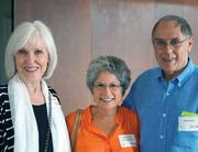 At a preview party for the upcoming season at Zach Theatre, which will be the first in the new Topfer Theatre on South Lamar Boulevard, are Victoria Reck (left), Donna Synder and Dwight Reck.