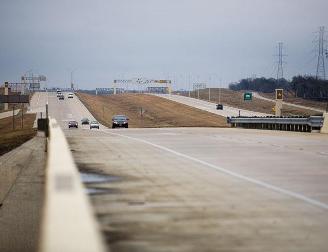 The new State Highway 130 toll road was funded largely by international investors.