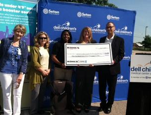 Department store Kohl's donated more than $143,000 to Dell Children's Medical Center so it can provide up to 1,500 families with free booster seats and education.