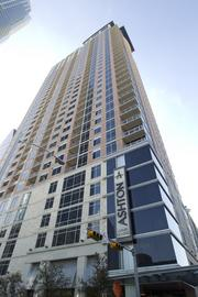 The seventh most-valuable building downtown is 101 Colorado Ave. The smallest building on this top 10 list - 342,239 square feet - is appraised at $95 million. The apartment building was completed in 2009 and designed by HKS Inc. architects.