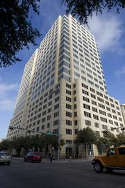 The building at 300 W. Sixth St., located on the northeast corner of Austin's warehouse district, is the second-most valuable building in downtown Austin, according to Travis County tax records.The $137 million building is part of the eight-property portfolio managed by Thomas Property Groups Inc. The 23-story building features a facade of Texas limestone designed by architect HKS and designer Page Southerland Page. Floorplates of 28,500 feet give the building a total of 454,225 square feet.