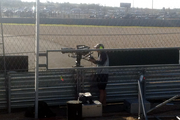 Based on past F1 viewership, the race in Austin could draw more than 25 million viewers globally. Cameramen are about the only people allowed inside the fortified fence that lines the track.