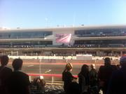 Fans in the grandstands can watch the big screen, pit and straightaway all at the same time.