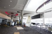 The 5,000-square-foot lounge in the main grandstand is still under construction. It will feature a wall of television screens and a concession stand operated by food and beverage partner Sodexo Corporate Service that will serve breakfast, lunch and snacks.