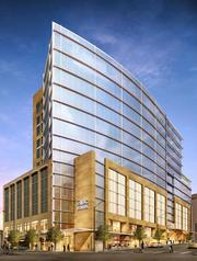 IBC Bank Plaza, at 500 W. Fifth St., will rise near Republic Square and the downtown post office. The new building would have about 195,000 square feet of office space and a bank and restaurant on the bottom floor. The project is headed by Endeavor Real Estate Group and is slated to begin in 2013.