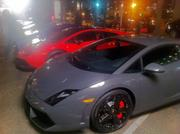 A rainbow of Lamborghinis is found on one street corner downtown not far from Fan Fest.