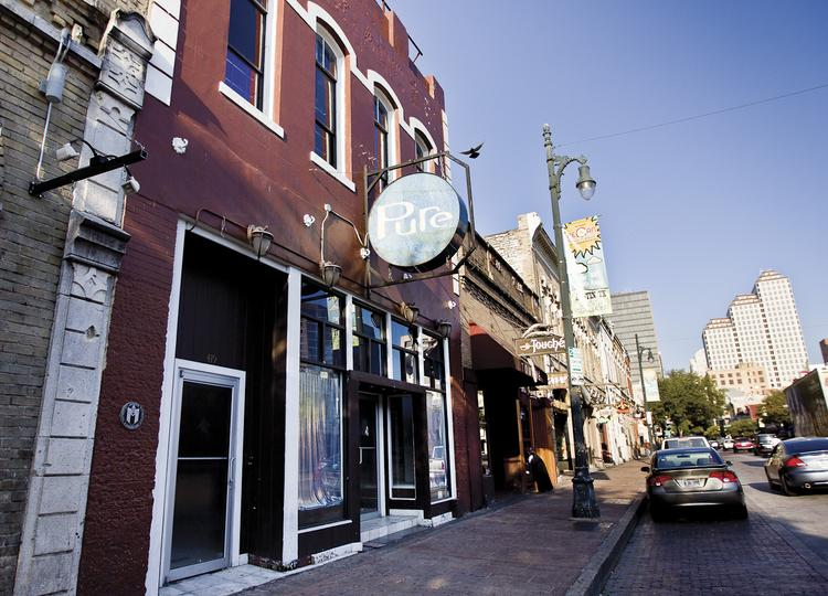 Pure, a nightclub in Austin's Sixth Street district, sat vacant for months while Yassine held the liquor license for the property.