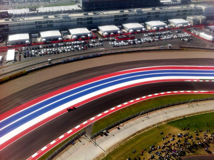 The Circuit of The Americas racetrack located east of downtown Austin.