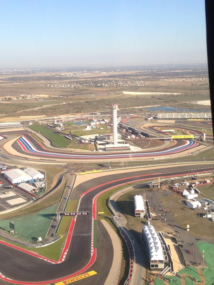 The U.S. Formula One Grand Prix held at the $400 million Circuit of The  Americas racetrack southeast of Austin welcomed 265,499 fans over the  three-day weekend, according to circuit officials.