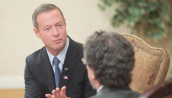 Maryland Gov. Martin O'Malley announced the state's plan to bail out struggling Dimensions Healthcare System in Prince George's County on Thursday.