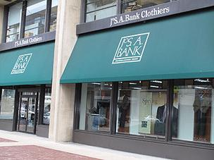 Jos. A. Bank's store on Pratt Street downtown.