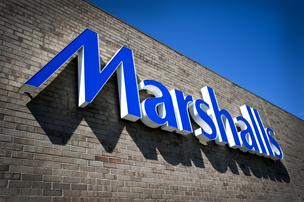 Marshalls, sign, store, logo