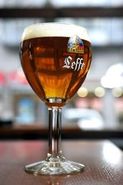 A glass of Leffe beer, which is brewed in Belgium. Max's annual Belgian Beer Fest starts on Friday.