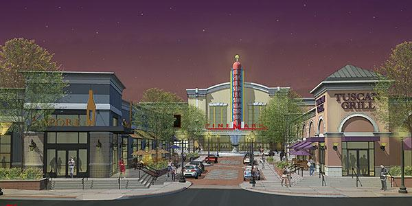 An artist's rendering of the planned Towson Square project in Baltimore County.