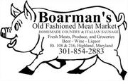 Boarman's is located in Highland, on the west side of the town's crossroads.