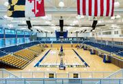 The Coppin State Athletic Center is a new, state-of-the-art physical education complex. Seen here is the indoor court.