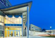 The entrance of the Coppin State Athletic Center. The building is 500,000 square feet.