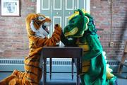 Oldfields School has two mascots for two competing student teams.