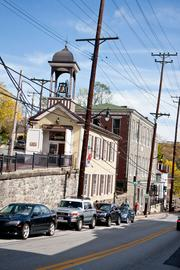 A view of Ellicott City's historic Main Street.