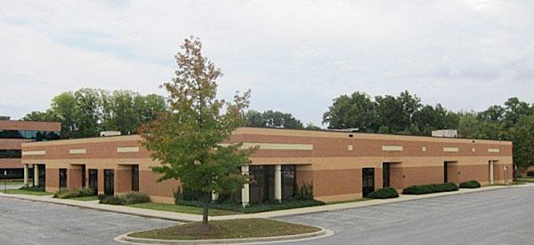 A 44,265-square-foot building at 6845 Deerpath Road is one of two being auctioned in the Dorsey Business Center in Elkridge by Alex Cooper Auctioneers Inc.