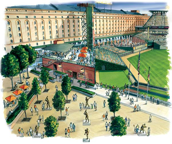 The Orioles released this rendering of renovations planned for this season at Camden Yards.