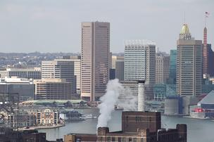Downtown Baltimore skyline