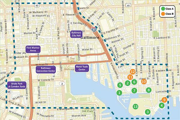 Cassidy Turley has redrawn downtown Baltimore's central business district to include Harbor East and Harbor Point.