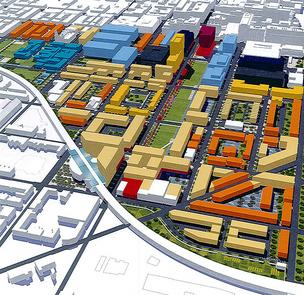 An outline of East Baltimore Development Inc.'s master plan.