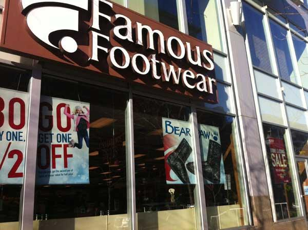 Famous Footwear is planning to close its 6,000-square-foot Inner Harbor location Dec. 22. The move follows closings earlier this year by two other Lockwood Place tenants, Filene's Basement and Best Buy.