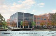 An artist's rendering of the Maryland Proton Treatment Center.
