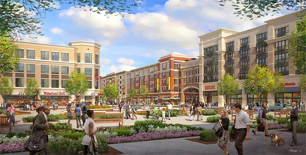 Construction will start Tuesday on two five-story buildings with retail space on the ground floors and 120 market-rate apartments on the upper floors, and on a four-story office building with first-floor retail and attached parking, in Owings Mills.