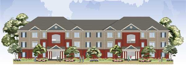 Reece Crossings, a 14-building apartment complex planned for Fort George  G. Meade, will be the first private on-post, garden-style housing  project for junior military members.