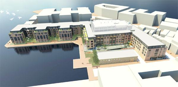 The Bozzuto Group broke ground on its $72 million Union Wharf residential and retail development on Dec. 13.