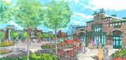 Greenberg Gibbons Commercial Corp. is planning a Wegmans-anchored shopping center called Foundry Row at the former Solo Cup plant. Here's an artist rendering of the project.