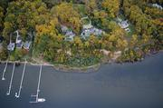 Martin and Georgie Fisher's home on the Severn River includes six boat slips and a 6,000-square-foot guest house.