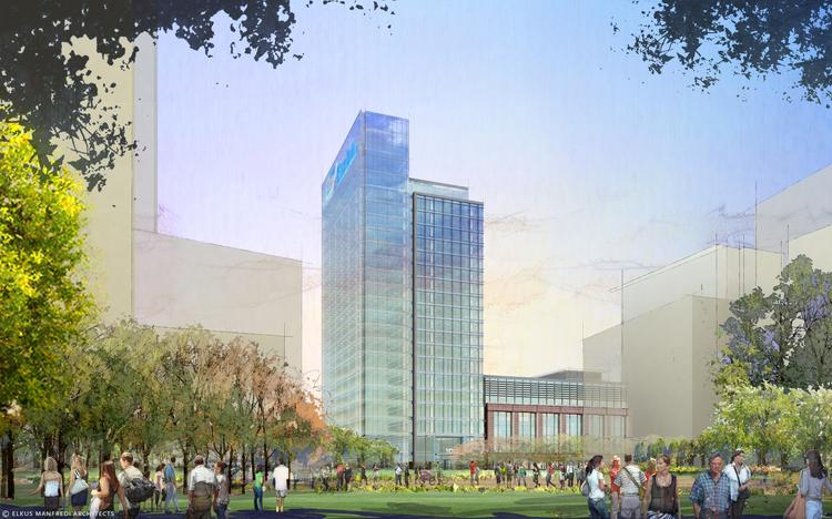 An artist's rendering of Exelon's planned headquarters at Harbor Point.