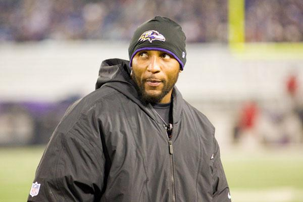 Ray Lewis and the Ravens defeated the New England Patriots 28-13 in the AFC Championship game.