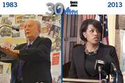 Mayor of Baltimore:Then: William Donald Schaefer, already mayor for the last 12 years, roamed City Hall on his way to becoming governor.Now: Stephanie Rawlings-Blake is one year into her first full term as mayor of Baltimore.