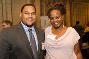 Antre Lewis, district manager, ADP; and Nikki Lewis, owner, the Mallow Bar/Mallow Crunchies.