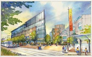 A rendering of the State Center redevelopment project.