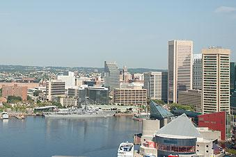 Baltimore's central business district continues to face challenges, various real estate tracking firms state.